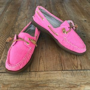 SPERRY TOP-SIDER for J CREW Boat Shoes in Pink 6